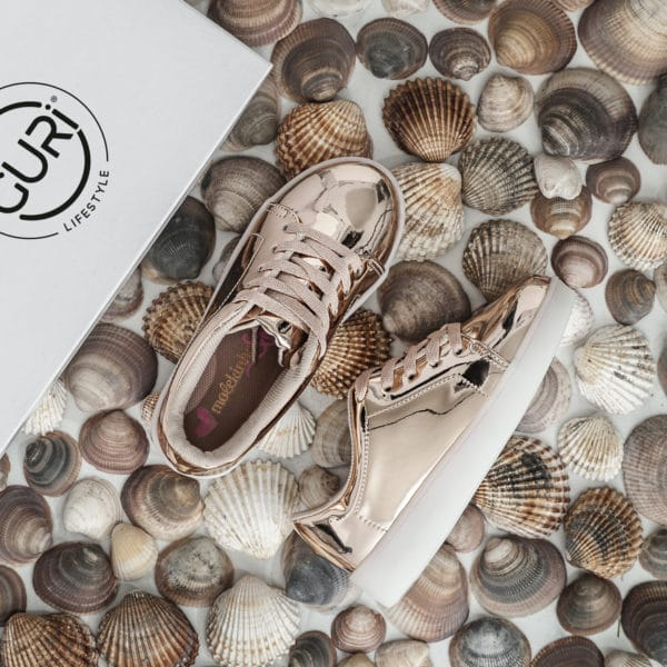 Alternative image of the rose gold shoes for girls.