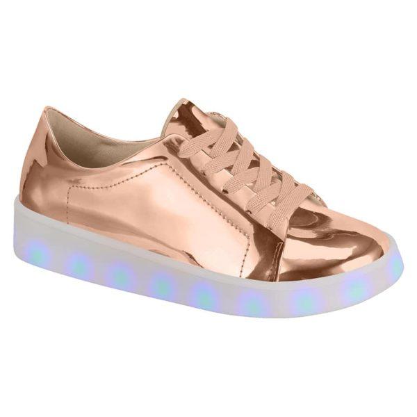 Rose Gold Shoes for girls - Molekinha - Lights on