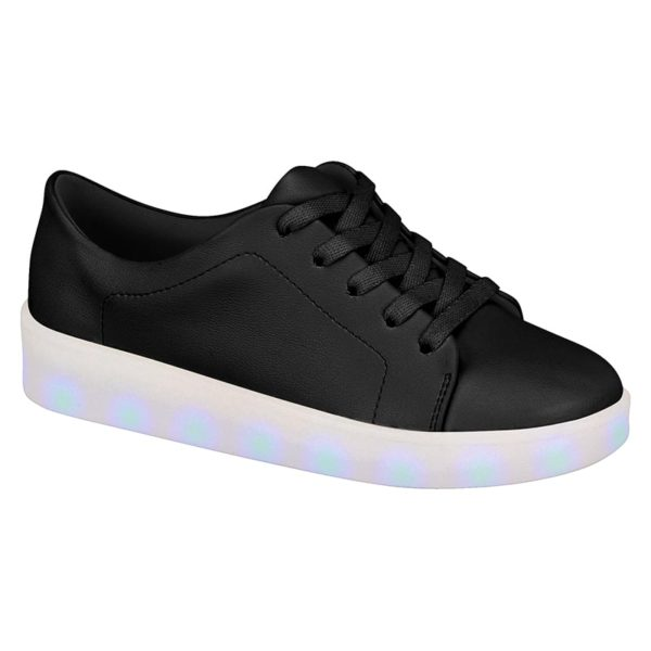 Black Shoes for girls - Molekinha - Lights on