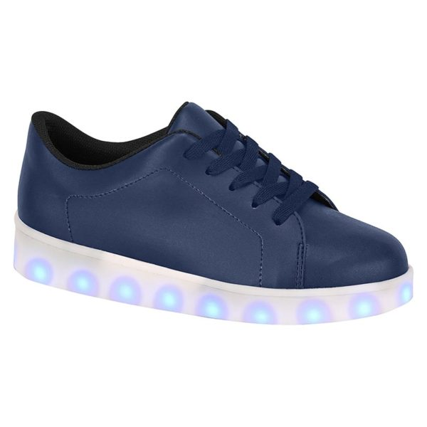 Navy shoes for boys - Molekinho - Lights on