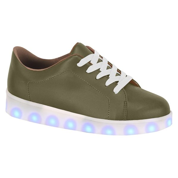 Militar Green shoes for boys - Molekinho - Lights on