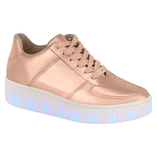 Rose Gold shoes for women - Vizzano - Lights on